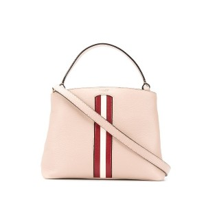 Bally contrast stripe tote - ピンク