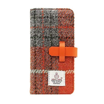 SLG Design iPhone8/7 Harris Tweed Diary オレンジ×グレー 【人気 おすすめ 通販パーク ギフト プレゼント】