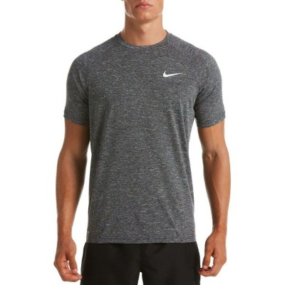 ナイキ Nike メンズ ラッシュガード 水着・ビーチウェア【Heather Short Sleeve Hydro Rash Guard (Regular and Big & Tall)】Black