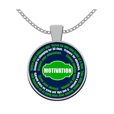 Inspirational Motivational Happiness変更引用符ペンダントネックレスジュエリーfor Fitness重量と目標
