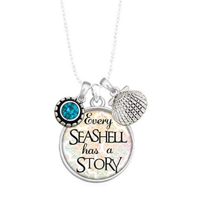 Lola Bella Gifts 「Every Seashell Has A Story サマービーチテーマチャームネックレス ギフトボックス付き
