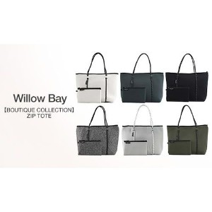 【Willow Bay/6色展開/BOUTIQUE COLLECTION】軽量かつ洗濯可能なネオプレン素材を使用。おしゃれな多機能トートバッグ《ZIP TOTE》 レディースバッグ トートバッグ -...