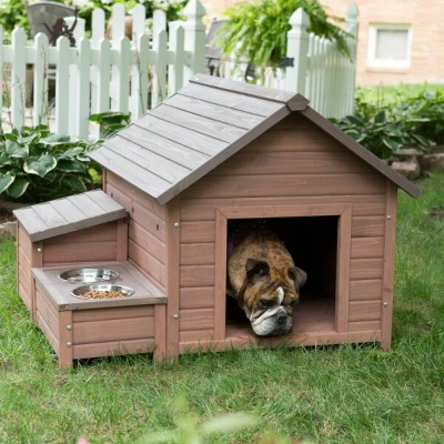 【Boomer & George 】犬小屋 アメリカBoomer & George  ドッグハウス AフレームドッグハウスWith Food Bowl Tray and Storage Cubby...