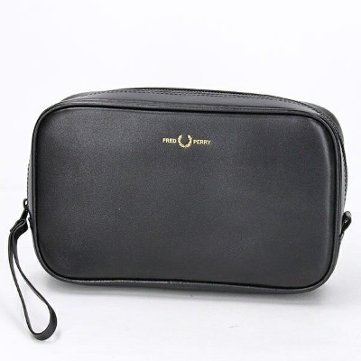 【S20】GRAPHIC LEATHER TRAVEL CASE/フレッドペリー(雑貨)(FRED PERRY)