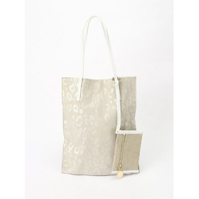 Cachellie FLAT TOTE&POUCH カシェリエ バッグ トートバッグ ベージュ【送料無料】