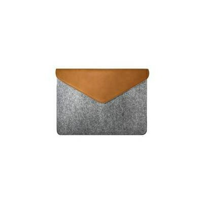 """MOZO Felt Laptop Pouch 13"""" Gray with Brown Surface用ケース MZESF13GB"""
