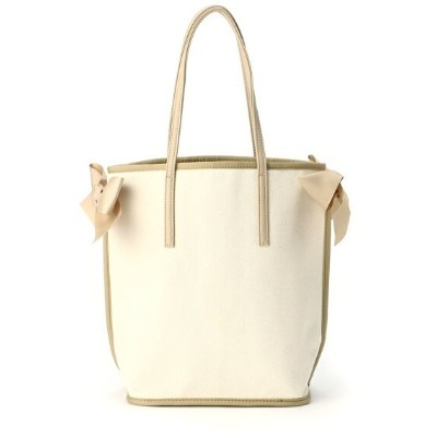 Cachellie CANVAS RIBBON TOTE/M カシェリエ バッグ トートバッグ ホワイト【送料無料】