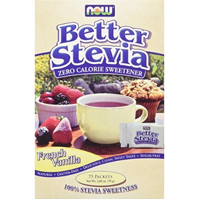 NOW Foods BetterStevia French Vanilla 75 packets [海外直送品]