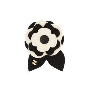 Chanel Pre-Owned 2002 Camellia ブローチ - ブラック
