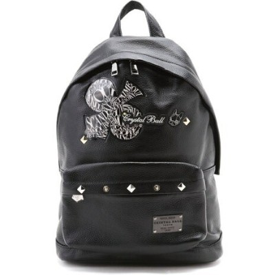 CRYSTAL BALL Leather Day Pack クリスタルボール バッグ リュック/バックパック ブラック【送料無料】