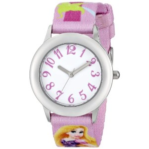 Disney ディズニー 塔の上のラプンツェル キッズ腕時計 Kids' W000426 Tween Rapunzel Stainless Steel Printed Strap Watch