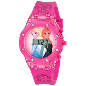 "Disney ディズニー アナと雪の女王 キッズ腕時計 Kids' FZN3568 ""Frozen Anna and Elsa"" Digital Display Watch with Pink..."