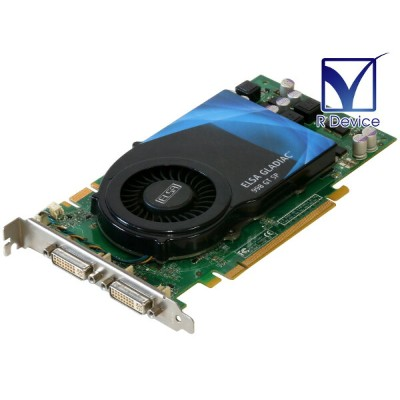 ELSA GeForce 9800 GT 512MB DVI *2 PCI Express 2.0 x16 GD998-512EBSPF【中古】