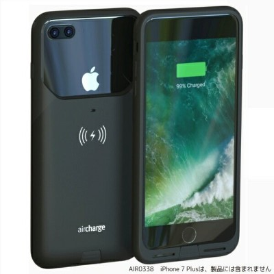 Air Charge Air Charge MFi ワイヤレスチャージングケースiPhone7Plus用 AIR0338 ブラック