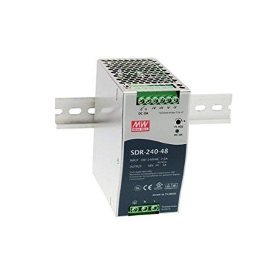 DIN Rail PS 240W 24V 10A SDR-240-24 Meanwell AC-DC SMPS SDR-240 Series MEAN WELL Switching Power...
