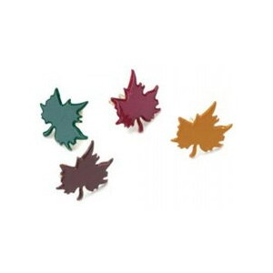 ブラッド(割りピン)Brads : Painted Metal Fastener /Maple Leaves Colorful(1パック約50pcs入り)
