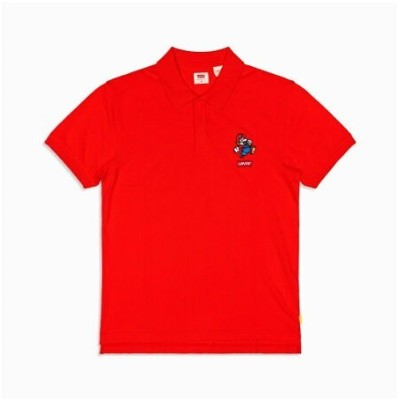 【SALE/70%OFF】Levi's AUTHENTIC ロゴポロシャツ MARIO POLO RED リーバイス カットソー Tシャツ