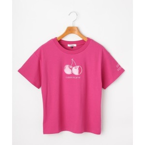 【PINK-latte(ピンク ラテ)】 ★ニコラ掲載★チェリービニールアップリケTシャツ OUTLET > PINK-latte > トップス > Tシャツ ピンク