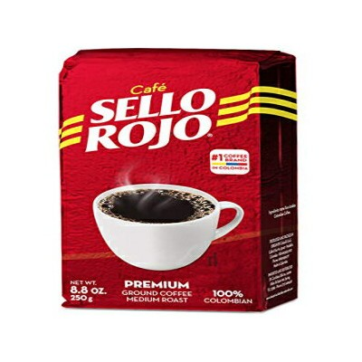 Sello Rojo Colombian Coffee | Best Coffee Selling Brand in Colombia | 8.8 Oz Supremo Ground Coffee...