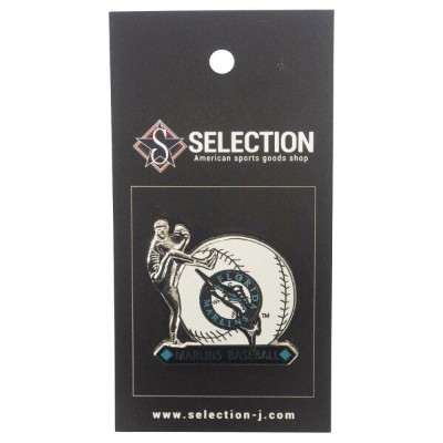 MLB フロリダ・マーリンズ Team Logo Pitcher Pin PSG