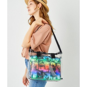 LeSportsac MED CLEAR 2 IN 1 TOTE/サンディ キーズ