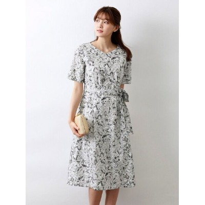 【SALE/40%OFF】AMACA 【Precious Collection】AUGUST ROSE EMBROIDERYワンピース アマカ ワンピース シャツワンピース ブラック ベージュ...