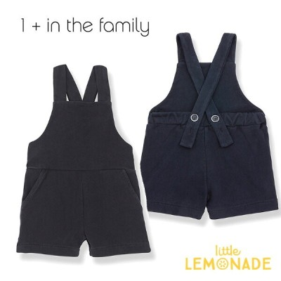 【1+ in the family】ショート丈 オーバーオール CEFALU short overall 【12か月/18か月/24か月/36か月】BLUE NOTTE 子供 シンプル...