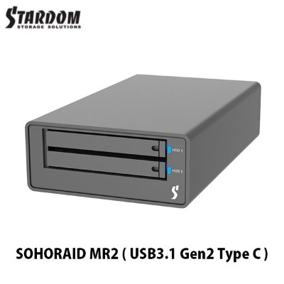 STARDOM SOHORAID MR2 (USB3.1 Gen2 Type-C) # MR2-B31 スターダム (Apple製品関連アクセサリ)