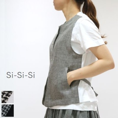 【50%OFF】Final Summer Sale Si-Si-Si(スースースー)千鳥ベスト 2colormade in japan2020-ss007h【■】