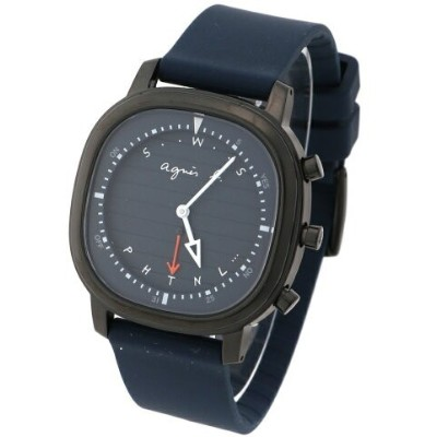 HOMME HOMME/(M)LM02 WATCH FCRB403 時計 アニエスベー ファッショングッズ 腕時計 ネイビー【送料無料】