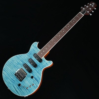 Kz Guitar Works Kz One Semi-Hollow 3S23 Kahler 5A Flamed Maple See-through Blue [SN.T0069]