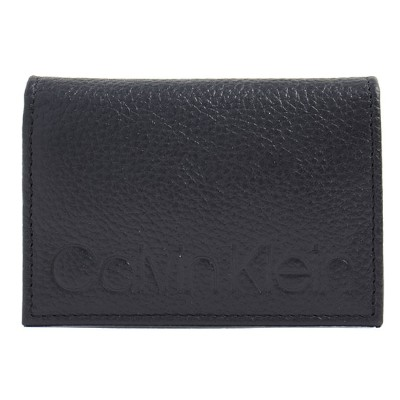 カルバンクライン Calvin Klein CK カードケース 名刺入れ RFID LEATHER CARD CASE WITH GUSSET BLK-CARD CASE W/GUSSET...