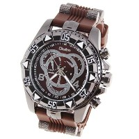 Orient Idea オリエントアイデア メンズ腕時計 Ori-0642 Men's Watch with Numbers and Strips Hour Marks Round Dial...