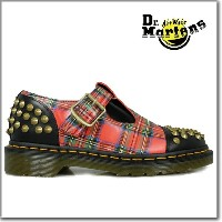 ドクターマーチン Dr.MARTENSLILIHA STUDDED T-BAR15348615 BLACK+RED STEWART[co-800]