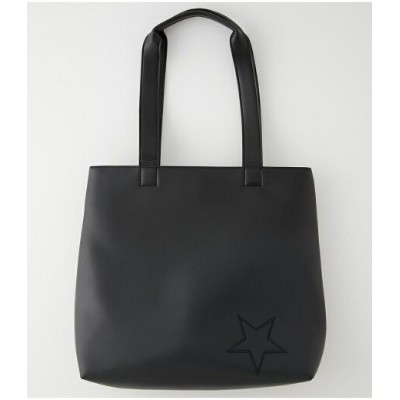AZUL by moussy ECO LEATHER ONE STAR TOTE/エコレザーワンスタートート アズールバイマウジー バッグ バッグその他 ブラック【送料無料】