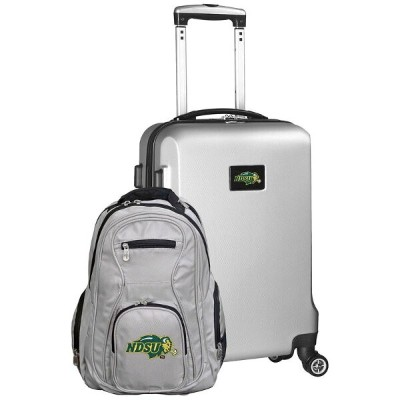 モジョ メンズ スーツケース バッグ NCAA Deluxe 2 Piece Backpack and Carry-On Set - Silver North Dakota State Bison