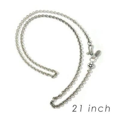 【BWL正規取扱販売店】Bill Wall Leather ビルウォールレザー 送料無料/あす楽 BWL Round Chain Necklace w/ Tiny Charm and Oval...