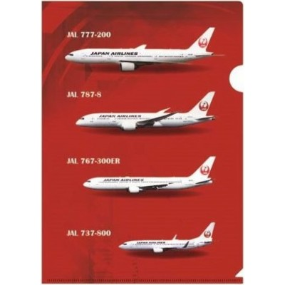 JAL クリアファイル 機体リスト JALUX 飛行機/グッズ [BJK6016]