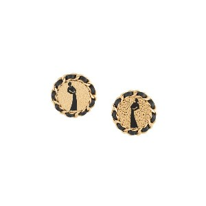 Chanel Pre-Owned Mademoiselle button earrings - ゴールド
