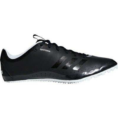 アディダス メンズ 陸上 スポーツ adidas Men's Sprintstar Track and Field Shoes Black/Black/White