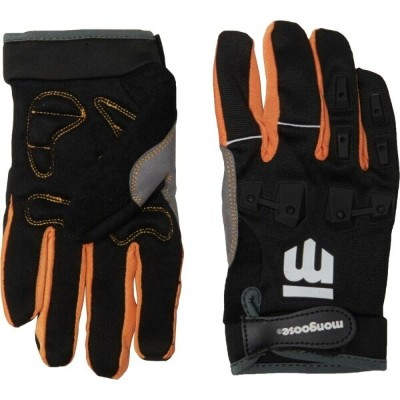 マングース Mongoose レディース 自転車 グローブ【Full-Finger Gloves with Silicone Pads - Large-XL】Black/Orange