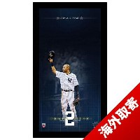 お取り寄せ MLB ヤンキース デレク・ジーター Sports Derek Jeter 14 time All Star Blueprint to Greatness 10x20 Framed...