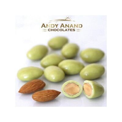 Andy Anand Chocolates Andy Anand whole roasted California Almonds bathed in Belgian white chocolate...