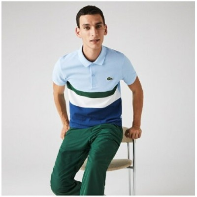 【SALE/30%OFF】LACOSTE コントラストボーダーポロシャツ ラコステ カットソー ポロシャツ ブルー【RBA_E】【送料無料】