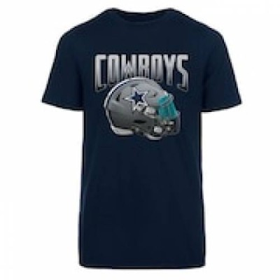 UNBRANDED ダラス カウボーイズ ヘルメット Tシャツ 青 ブルー 【 NFL HELMET BLUE UNBRANDED S DALLAS COWBOYS APEX TEE COW 】...