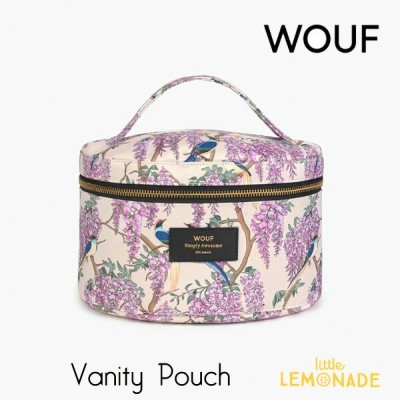 【WOUF】 バニティポーチ 【Glycine】 XL Beauty 鳥 パープル 花 おしゃれpouch メイクアップバッグ メイクポーチ 化粧ポーチ ポーチ 小物入れ 旅行ポーチ 化粧品入れ...