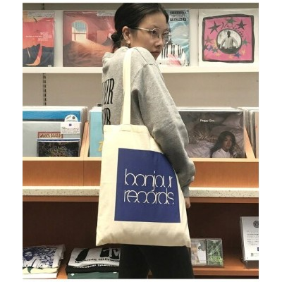 bonjour records 【bonjour records】EASY TOTE 2020 ボンジュールレコード バッグ トートバッグ ホワイト