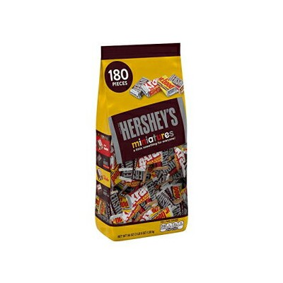 HERSHEY'S Hershey's Miniatures Assortment, 56-Ounce Bag (Pack of 4)