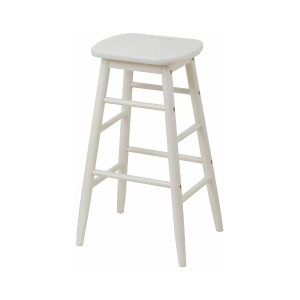 CHIC FURNITURE High stool○INS2824 ホワイト チェア・ベンチ・スツール
