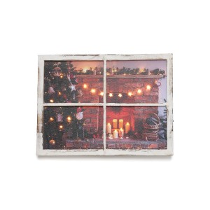 【28%OFF】クリスマスアート Window Frame-Fireplace & Tree M